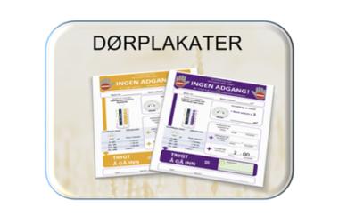 Desinfeksjonsrobot – Dørplakater